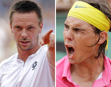 Rafael Nadal screams after loss to  Lucas Scott/Robin Soderling