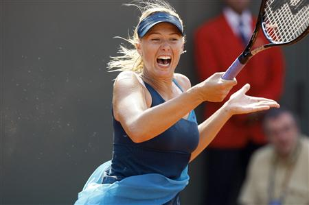 Maria Sharapova Screams while hitting