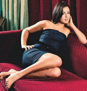 Ana Ivanovic in a slinky black dress