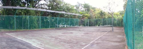 Old Worn Tennis Courts