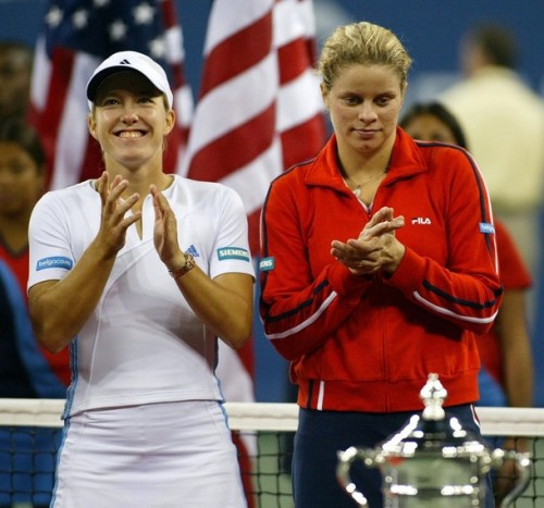 Justine Henin & Kim Clijsters in 2003