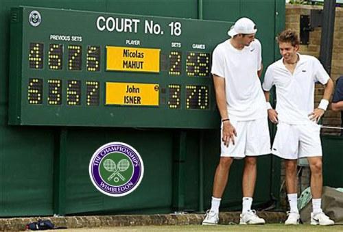 John Isner Nicolas Mahut longest tennis match Wimbledon 2010