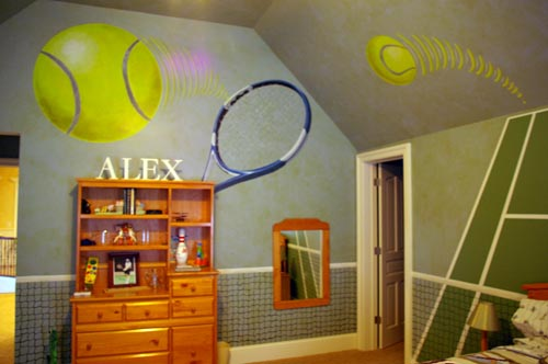 Tennis themed bedroom
