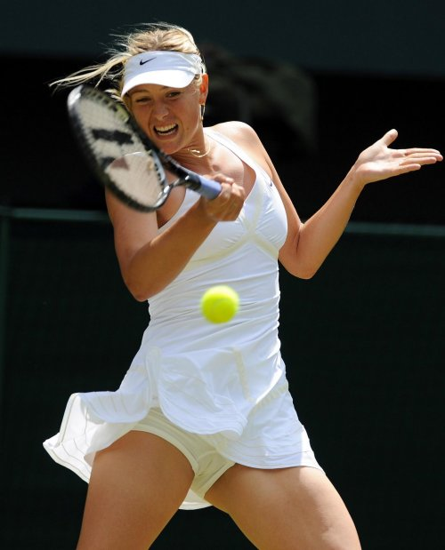 Maria Sharapova screaming yelling