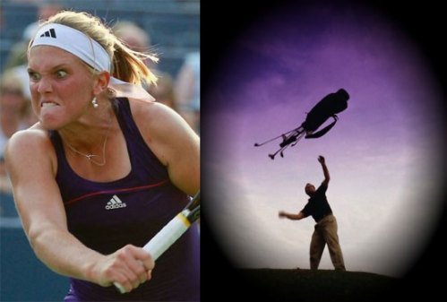 Golfers & Tennis Players show anger differently