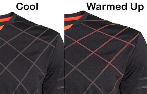 heat activated tennis shirt christmas gift